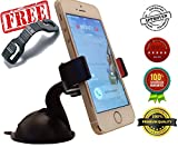 2-for-1 Cell Phone Car Mount – For Free A Car Seat Headrest Hook Hanger – The Best Mount for Windshield & Dashboard You'll Own! – Latest Suction Cup & 2x More Powerful Than Others – Installs in Seconds – Universal Holder Fits All Smartphones Like iPhone 6, 6+ Plus, 5 5S 5C 4 4S, Samsung Galaxy S5 S4 S3, Note 3 2, GPS and More – 100% Money Back Guarantee thumbnail