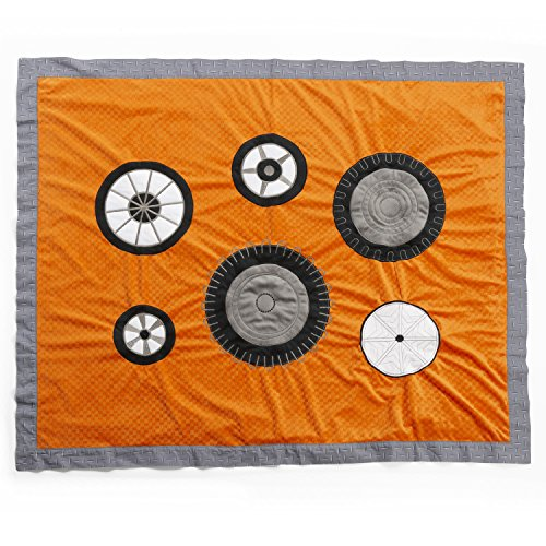 One Grace Place Teyo's Tires Medium Quilt, Black, White, Grey, Orange - 1