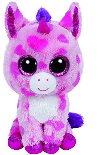 carl-etto-ty-36175-sugar-pie-unicorn-pink-15-cm-with-glitter-eyes-glub-sliding-beanie-boos-love-vale