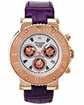 Mulco MW3-70602-153 Stainless Steel Chronograph BlueMarine Collection Purple leather Band Watch