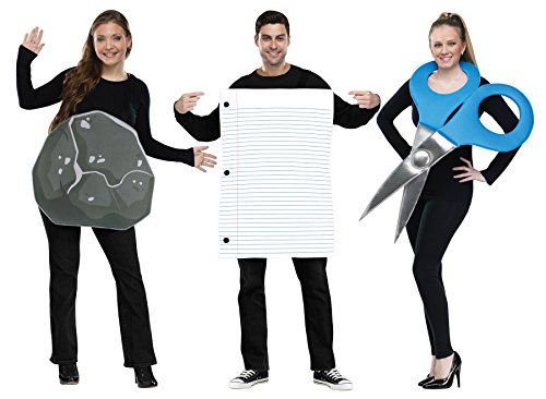 UHC Rock Paper Scissors Trio Duo Pair Funny Theme Party Adult Couple Costume, OS (Disney Couples Costume)