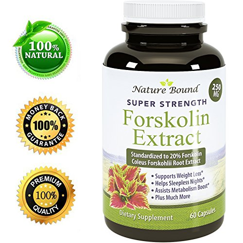 Pure And Natural Forskolin For Weight Loss - Coleus Forskohlii Root Weight Loss Pills For Men & Women - Boost Energy + Testosterone - Best Forskolin Extract To Burn Belly Fat By Nature Bound (Man Energy Pills compare prices)