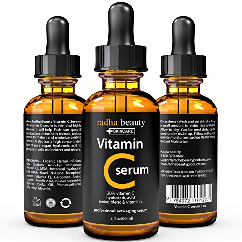 VITAMIN C Serum for Face - 2 fl. oz - 20% Organic