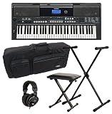 Yamaha PSR E433 Keyboard Deluxe SET Ständer+ Kopfhörer+ Tasche+ Bank