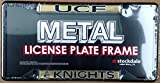 Central Florida Knights UCF SD Deluxe BLACK Metal License Plate Frame Tag Cover University of