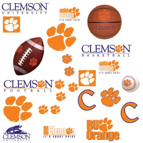 RoomMates RMK1104SCS Clemson University Peel & Stick Wall Decals