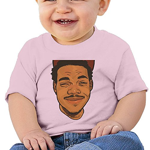 Bro-Custom Man Smile Face Image Toddler Cartoon T-shirt Pink Size 24 Months (Crock Tooth Necklace compare prices)