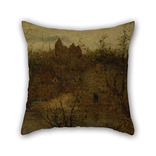 Uloveme The Oil Painting Matthijs Maris - The Enchanted Castle Throw Cushion Covers Of ,18 X 18 Inches / 45 By 45 Cm Decoration,gift For Him,bench,kids,couples,living Room,boy Friend (two Sides)