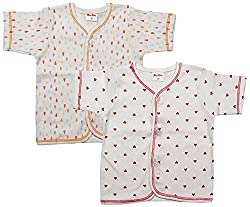 First Step ne Baby Boys' Cotton Shirt, Pack of 2 (Multicolor, 0 - 3 Months)First Step Baby Boys' Cotton Shirt, Pack of 2 (Multicolor, 0 - 3 Months)