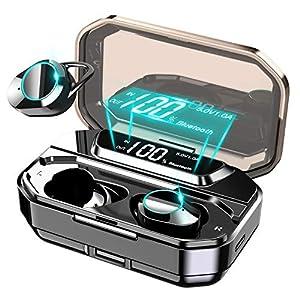 【進化版Bluetooth5.0 150時間連続駆動 5000mAh超大容量】 イヤホン Bluetooth ワイヤレスイヤホン