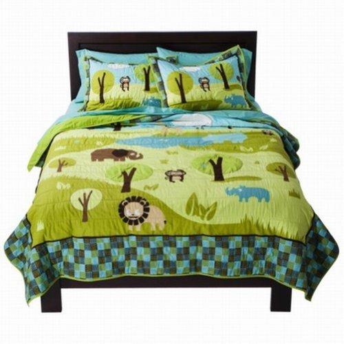 Circo Wild Safari Stitched Full Queen Quilt Shams Set Jungle Animals Comforter front-939526