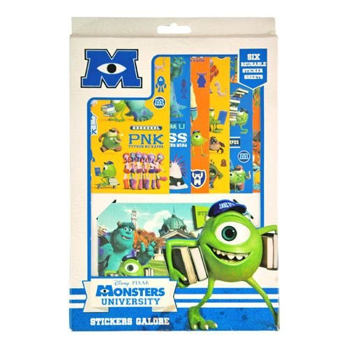 WeGlow International Monsters University Sticker Sheet and Album Set (Set of 2)