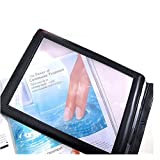 Finlon 3X A4 Full Page Magnifier Magnifying Fresnel Lens Handheld Plastic Magnifying Sheet - Perfect for Reading Books & Newspapers &Low Vision Aids