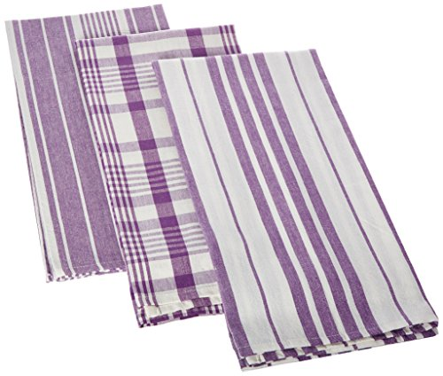 Now Designs Jumbo Pure Kitchen Towel, Prince Purple, Set of 3