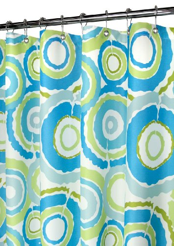 Park B Smith Groovy Circles Watershed Shower Curtain Pop Blueberry