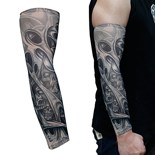 4-Pack-Arts-Fake-Temporary-Tattoo-Sleeves-Body-Art-Arm-Stockings-Accessories