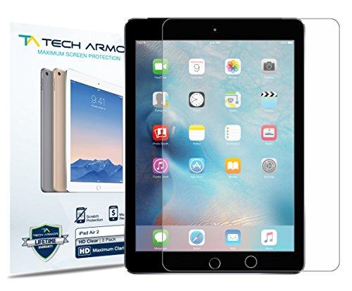 iPad Air Screen Protector, Tech Armor High Definition HD-Clear Apple iPad Air / Air 2 Film Screen Protector [2-Pack] (Ipad Protective Screen Cover compare prices)