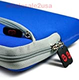 - Blue Sleeve Case for MSI U100-013US 10.1-Inch Blue Netbook {+ 1pc name tag}