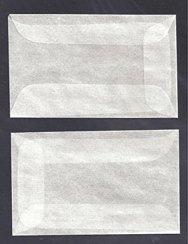 100 #1 Glassine Envelopes measuring 1 3/4 x 2 7/8 inches