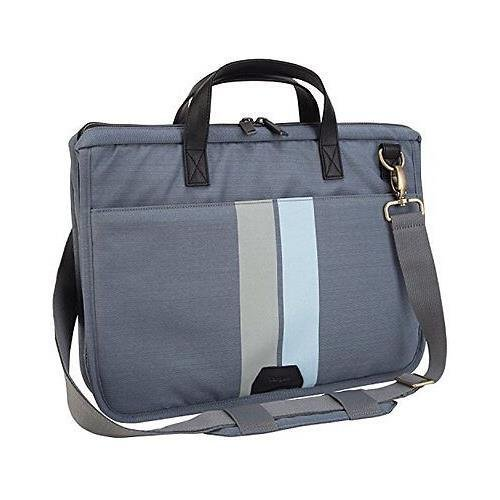 Targus TST59604 Gray / Black Geo Slim 15.6-Inch Laptop Case with Handle and Shoulder Strap targus awe55eu black