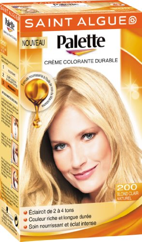 saint algue palette coloration permanente blond clair naturel 200 - Coloration Mousse Saint Algue