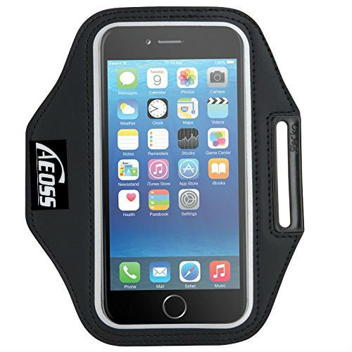 Aeoss A107 Sports Running Jogging Gym Armband Case Cover Holder Compitbale for all smart phones till 5.5″ inch iphone 6 plus , Samsung Note 3 .