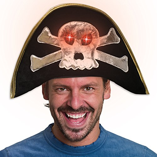 LED Light Up Flashing Buccaneer Pirate Hat