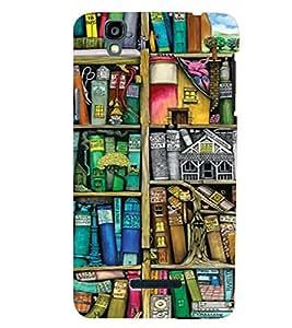 PrintVisa Book Shelf Pattern 3D Hard Polycarbonate Designer Back Case Cover for YU Yurekha
