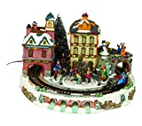 Village Animated Train with Light and Music