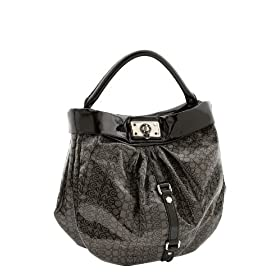Marc by Marc Jacobs Jelly Jacquard Large Lil Riz Shoulder Hobo Bag Black
