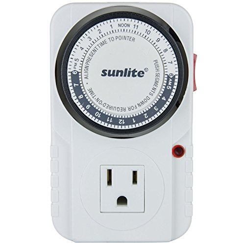 Sunlite 05003-SU T200 24 Hour Heavy Duty Appliance Timer - 2 Pack