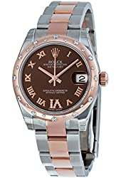 Rolex Datejust Lady 31 Chocolate Dial Steel and 18K Rose Gold Ladies Watch 178341BRRO