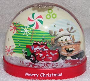 Disney Cars Lightning McQueen & Mater Plastic Christmas Holiday Waterball Snowglobe by Kcare