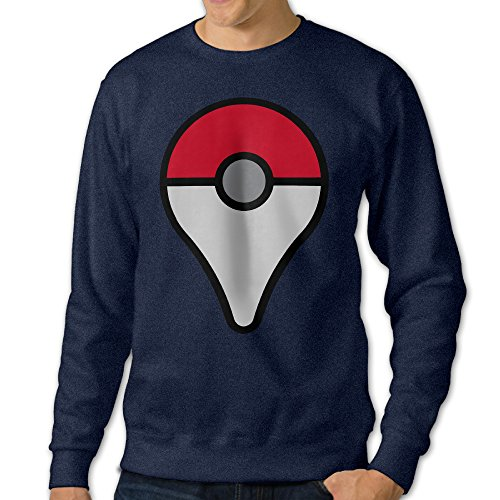 JXMD Men's Pokemon Go Crewneck Hooded Sweatshirt Navy Size 3X (Pokemon Omega Ruby Poster compare prices)