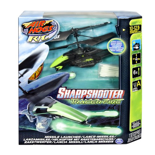 Air Hogs RC Sharpshooter, Missile Firing Helicopter - Grey / Green (Sharp Shooter Helicopter compare prices)