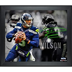 Limited Edition Framed Russell Wilson Seattle Seahawks Signed 16x20 Photo - Mounted... by Sports Memorabilia