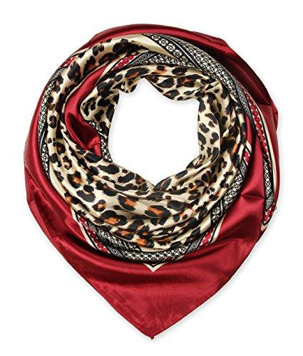 corciova-womens-square-scarf-100-polyester-silk-feeling-3535-inches-leopard-crimson-red