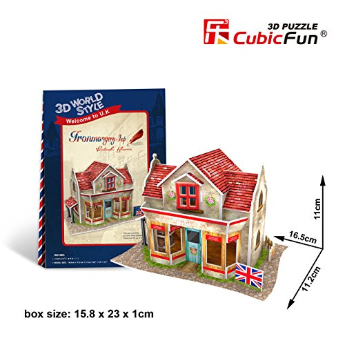 W3108h Cubicfun Cubic FUN 3d Puzzle Model 34pcs British Flavor Ironmongery Shop. - 1