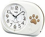 SEIKO CLOCK(セイコークロック) アナログ目覚まし時計 メロディアラーム(犬の歌声) ホワイトNR428W