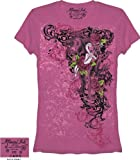 Miami Ink Silver Claw Raspberry Juniors T-shirt (Small)