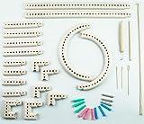ニット&ウィーブルームキット ニットクイックルーム 組み換え型編み機 帽子 マフラーが簡単に作れる 編み機 編み針付き 手作り プレゼントに knit & weave loom kit