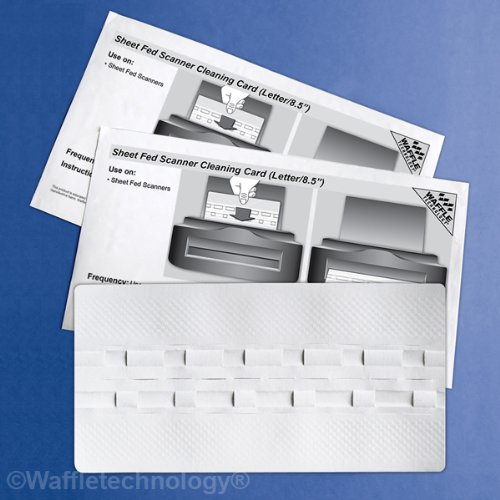 Sheet Fed Scanner Cleaning Card featuring Waffletechnology