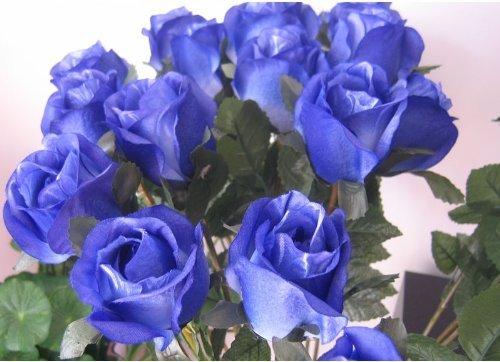 神秘的な 美しい 青い 薔薇 20本 造花  ブルーローズ  オシャレな インテリアなどに