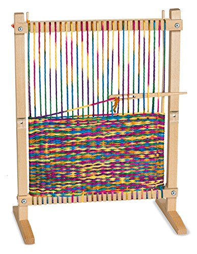 Melissa & Doug Wooden Multi-Craft Weaving Loom: Extra-Large Frame (22.75 x 16.5 inches) (Extra Large Rainbow compare prices)