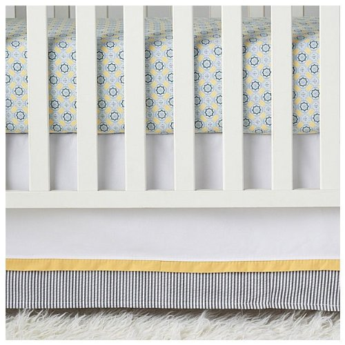 Serena & Lily Graham Crib Skirt- Blue