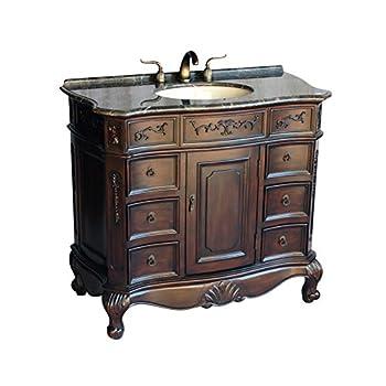 "40"" Antique Style Single Sink Bathroom Vanity Model 4000-MXC"