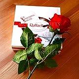 Moreton Gifts Red Rose With A Ferrero Raffaello Box Love Gift - By - Valentine's Day Romantic Love Gift