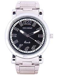 Time Expert Analogue Black Dial Men's Watch - TE100345