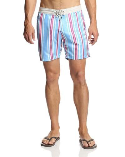 Mr. Swim Men's Cabana Stripe Board Shorts