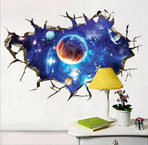 3dgalaxyweltraumwohnzimmer1-schlafzimmerfernseherhintergrundwand-aufkleber